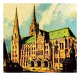 Chartres Cathedral Giclee Print by English School