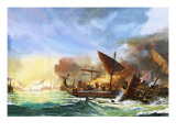 Battle of Salamis Premium Giclee Print by Andrew Howat