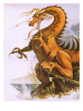 Dragon Giclee Print by  English School