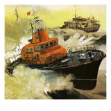 Lifeboat Rescue Giclee Print by  English School