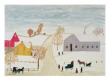 Amish Village Giclee Print by H.F. Lang