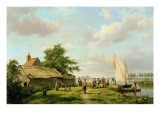 On the Zuider Zee Giclee Print by Hermanus Koekkoek