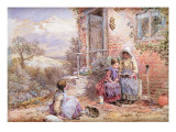 The Story Book Giclee Print by Myles Birket Foster