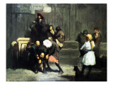 Street Kids, 1906 Giclee Print by George Wesley Bellows