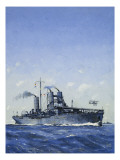 Hms Campania Giclee Print by John S. Smith