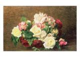 Roses Giclee Print by Henri Fantin-Latour