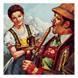 Dress of the Tyrol Giclee Print by  McConnell