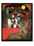 Villa R, 1919 Reproduction procédé giclée par Paul Klee