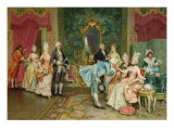 The Reception Premium Giclee Print by Arturo Ricci