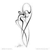 Dancing Couple III Poster von Alijan Alijanpour