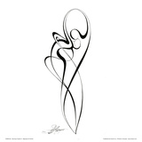 Dancing Couple III Prints by Alijan Alijanpour