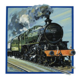 Railway Locomotive Giclee Print by John S. Smith