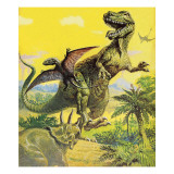 Dinosauri Stampa giclée di  English School