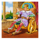 King on a Throne Giclee Print by English School