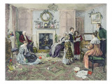 Christmas Carols Premium Giclee Print by Walter Dendy Sadler