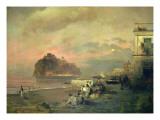 Ischia, 1884 Premium Giclee Print by Oswald Achenbach