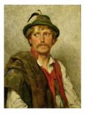 A Peasant Premium Giclee Print by Hugo Kauffmann