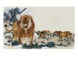 Barbary Lions Giclée-Druck von Maurice Wilson