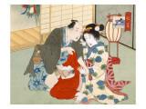 Couple Having Sex Premium Giclee Print by  Japanese School