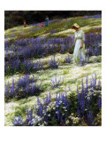 On a Hill, 1914 Premium Giclee Print by Charles Courtney Curran