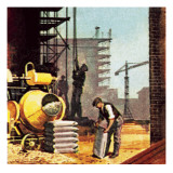 Construction Giclee Print by  English School