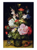 Flowers in a Vase Giclee Print by Roelandt Jacobsz. Savery