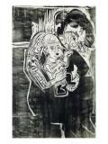 Mère et enfant Reproduction procédé giclée par Ernst Ludwig Kirchner