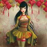 Miss Midori Print by  Misstigri