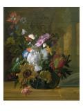 Flower Still Life Premium Giclee Print by Rachel Ruysch
