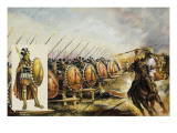 Spartan Army Giclee Print by Andrew Howat
