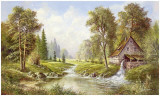 Old Mill Print by H. Buchner