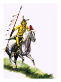 Cheyenne Warrior Giclee Print by Ron Embleton