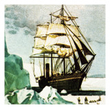 Scott's Terra Nova Giclee Print by English School