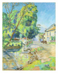 The Village Giclee Print by Armand Guillaumin