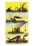 Work Boats Giclee Print by  Escott