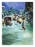 Indian Monsoon Giclee Print by Gerry Wood