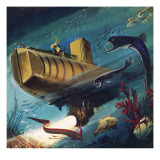 Bathyscaphe Giclee Print by English School