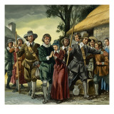 Puritans Giclee Print by Ron Embleton