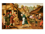 The Egg Dance Lámina giclée por Pieter Bruegel the Younger