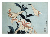 Trompetenlilien Giclée-Druck von Katsushika Hokusai