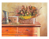 Flowers on a Sideboard III Prints by M. de Flavis