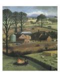 Farm Giclée-Druck von Ronald Lampitt