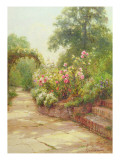 The Garden Steps Giclee Print by Ernest Walbourn