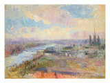 The Seine at Rouen Giclee Print by Albert-Charles Lebourg