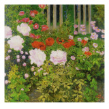 A Rose Hedge Giclee Print by Koloman Moser