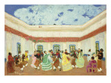 The Patio Premium Giclee Print by Pedro Figari