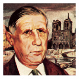 General De Gaulle Giclee Print by English School