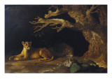 Lioness and Cave Giclee Print by George Stubbs