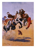 Bucked! Giclee Print by Stanley L. Wood