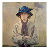 The Angler Gicleetryck av Sir William Orpen